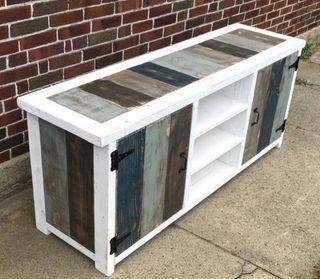 Mueble TV consola comedor madera palets