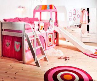Cortina flexa rosa, cueva y bolsillos