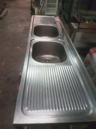 fregadero doble pica hostelería