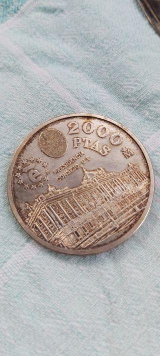 2000 PESETAS DE PLATA PRESIENCIA DE LA UNION EUROP