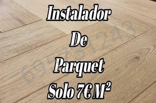 Instalador de parquet (7€ m²) gran disponibilidad