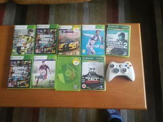 juegos Xbox 360 y mando