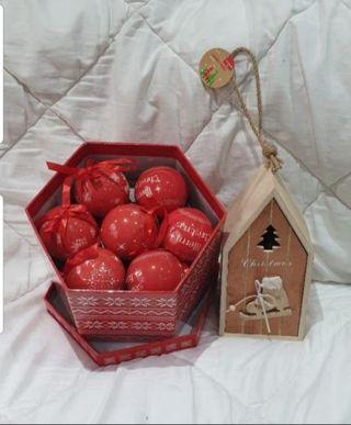 nuevas precintadas bolas árbol navidad y casita ma