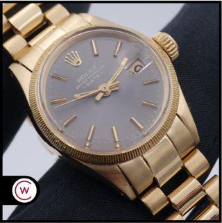 ROLEX Date Lady 6521 Oro amarillo President