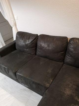 Sofá de 3 plazas negro