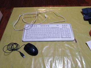 Teclado de ordenador Trust y ratón
