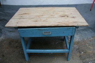 Mesa antigua de madera maciza 95x60x72 cm