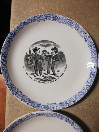Antiguos platos coleccionables