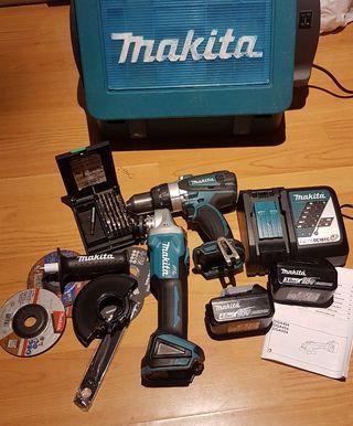 Kits Radial y Atornillador Makita Profesional