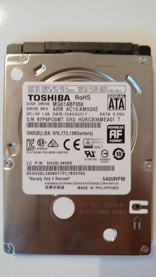 Disco duro para portátil 500 gb