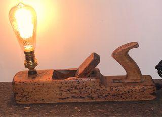 Vintage block plane lamp