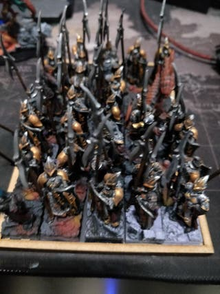 ejercicito super customizado de elfos oscuros
