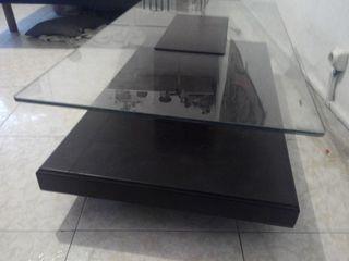 mesa centro comedor cristal