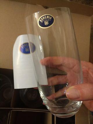 6 vasos de Cristal de Bohemia.