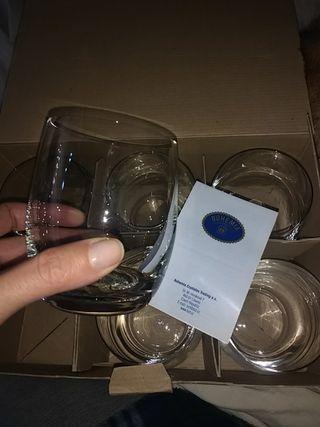 6 vasos bajos de Cristal de Bohemia