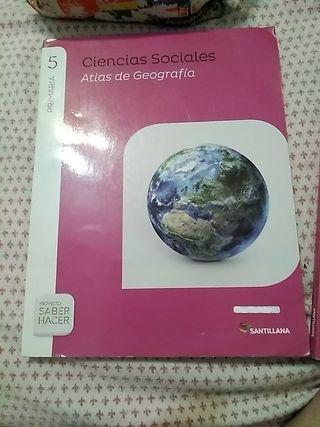 libro ciencias sociales 5º primaria+atlas
