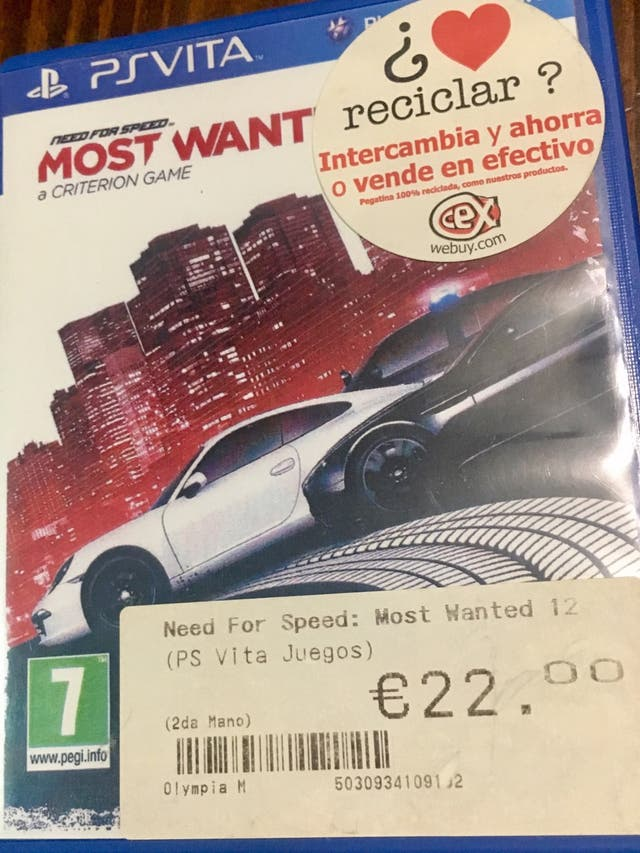 Juego Need For Speed Most Wanted PSVita