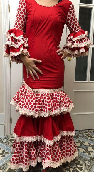 Traje de flamenca rojo talla 34