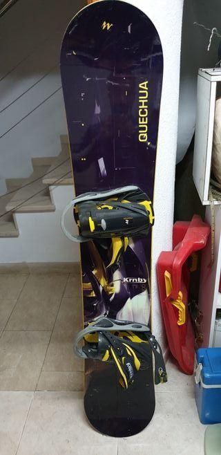 Snowboard + Botas Head 43.5 + casco y gafas wedze