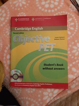 Libro de Inglés objetivo PET (CAMBRIDGE ENGLISH)