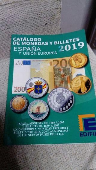 Libro catálogo de monedas y billetes España