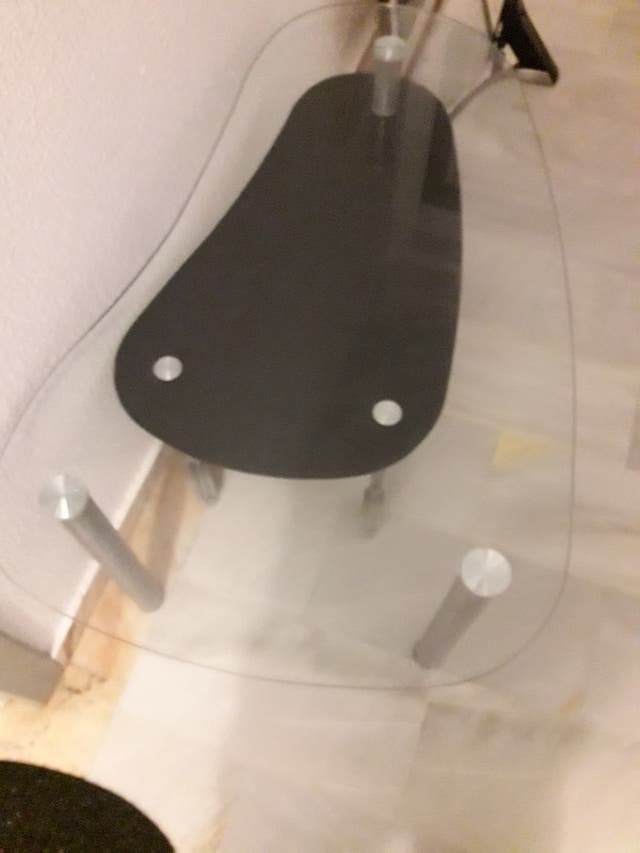 mesa de cristal para tv o baja salon