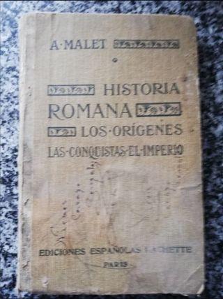 Libro antiguo historia romana