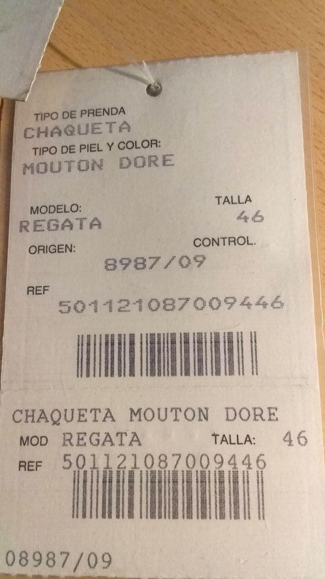 CHAQUETA de PIEL MOUTON