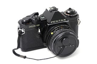 Cámara de fotos analógica Pentax Me Super negra