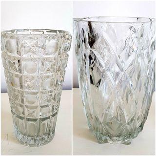 Jarrón cristal tallado antiguo