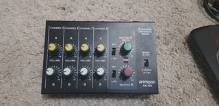 Mezclador de sonido ultra compacto mono estéreo