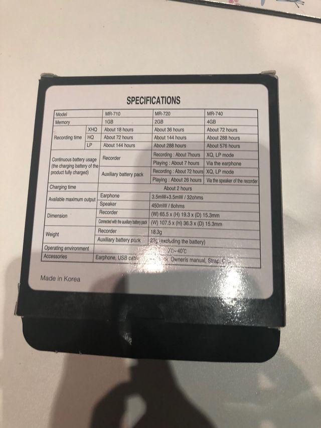 grabadora digital voice recorder