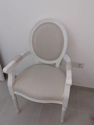 silla blanca luis XVI