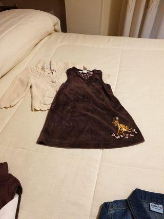 vestido+chaqueta niña 6 - 9 meses