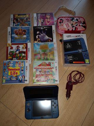 Nintendo 3ds xl +accesorios +7 juegos+regalo