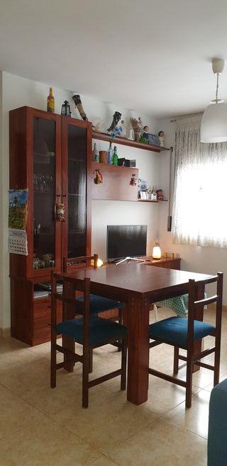 Mueble comedor + mesa abatible y 3 sillas