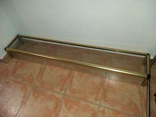 Vitrina mostrador 150cm metal y vidrio