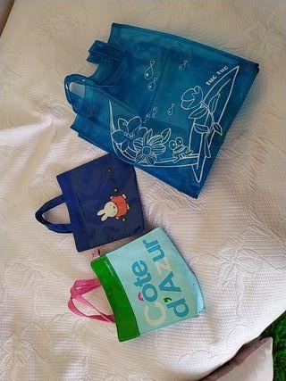 lote tres bolsas plastificadas