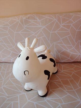 Saltador inflable vaca