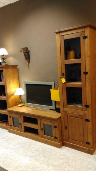 Muebles salón madera rústicos