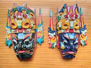 Máscaras chinas decorativas