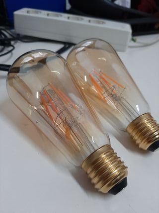 montaje bombillas vintage. todo material incluido