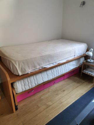 Estructura cama nido 90cm