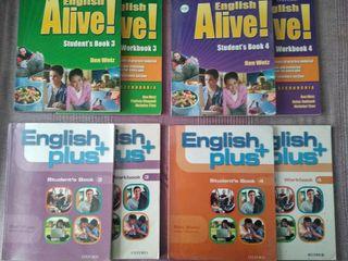 Libros Inglés Alive! English Plus 3 y 4