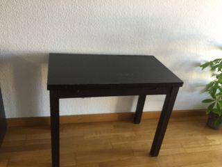 Mesa comedor negra extensible Ikea