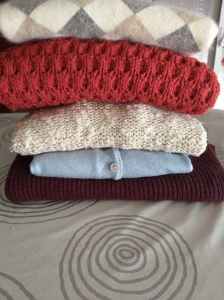 lote 5 suéters jerséis mujer.