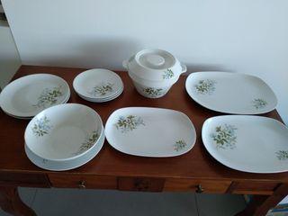 vajilla de porcelana completa