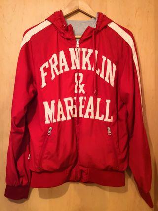 Sudadera roja y gris FRANKLIN & MARSHALL original