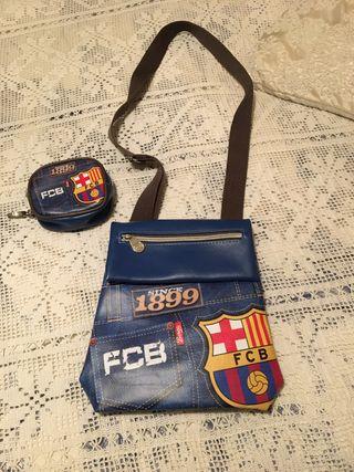 Bolso y monedero del Barça para niña