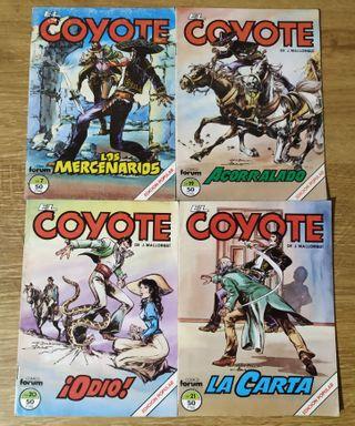 Lote 4 cómics El Coyote - números 7, 19, 20 y 21